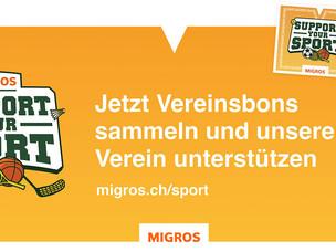 Die Migros-Aktion «Support your sport» ist gestartet!
