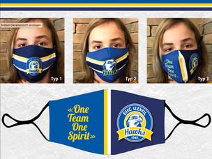 Auch Hawks-Typ 3 Masken jetzt im Webshop erhältlich!