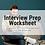 Thumbnail: Interview Prep Worksheet
