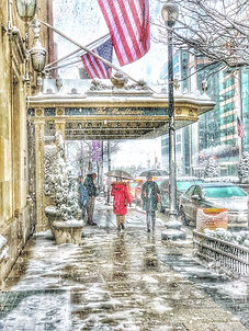 Snowstorm at the Mayflower