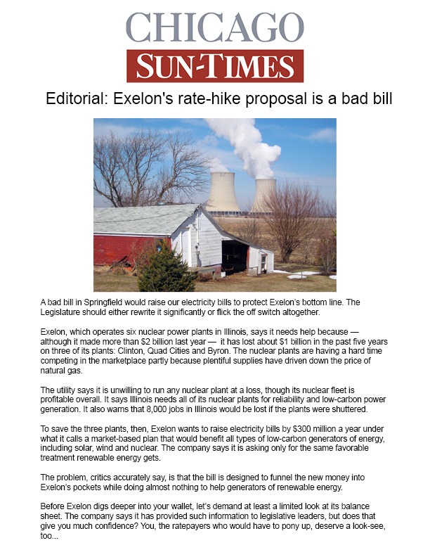 Chicago Sun Times Editorial