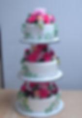 シュガークラフト,ウェディングケーキ,オーダケーキ,花嫁様手作り,ピンク,リボン,薔薇