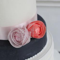 Wafer paper(食べられる紙)の薔薇で作るウェルカムケーキレッス