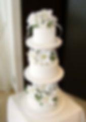 シュガークラフト,ウェディングケーキ,オーダーケーキ,オーダーメードウェディングケーキ,花嫁様手作り,ホワイト,リボン,カサブランカ,薔薇