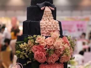 フラワーアーティストコラボのウェディングケーキ