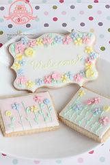 アイシングクッキー,シュガークラフト、お花のクッキー,バレンタイン