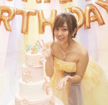 菊池亜美さんバースデーイベント用ケーキ
