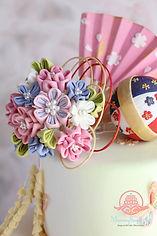 シュガークラフト,「和」のケーキ,シュガーケーキ,オーダーケーキ,シュガーアート,ウェディングケーキ