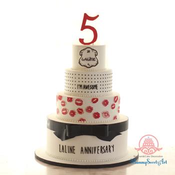 lalineイベント用シュガークラフトケーキ