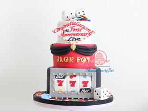 アイドルグループ「ジャックポット」アニバーサリーケーキ制作