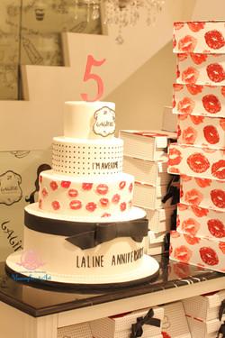 「aline」5周年イベント用ケーキ