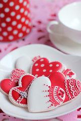 シュガークラフト、バレンタイン,ハート,アイシングクッキー、