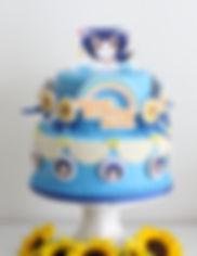 シュガークラフト、シュガーケーキ、ご注文はうさぎですか、マヤちゃんお誕生日ケーキ、オーダー