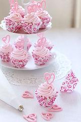 シュガークラフト、カップケーキ、ピンク、カップケーキタワー、オーダー