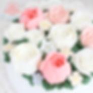 シュガークラフト,バタークリームケーキ,お花絞りのケーキ,オーダーメードウェディングケーキケーキ