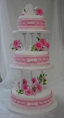 シュガークラフトウェディングケーキ,オーダーメードウェディングケーキ