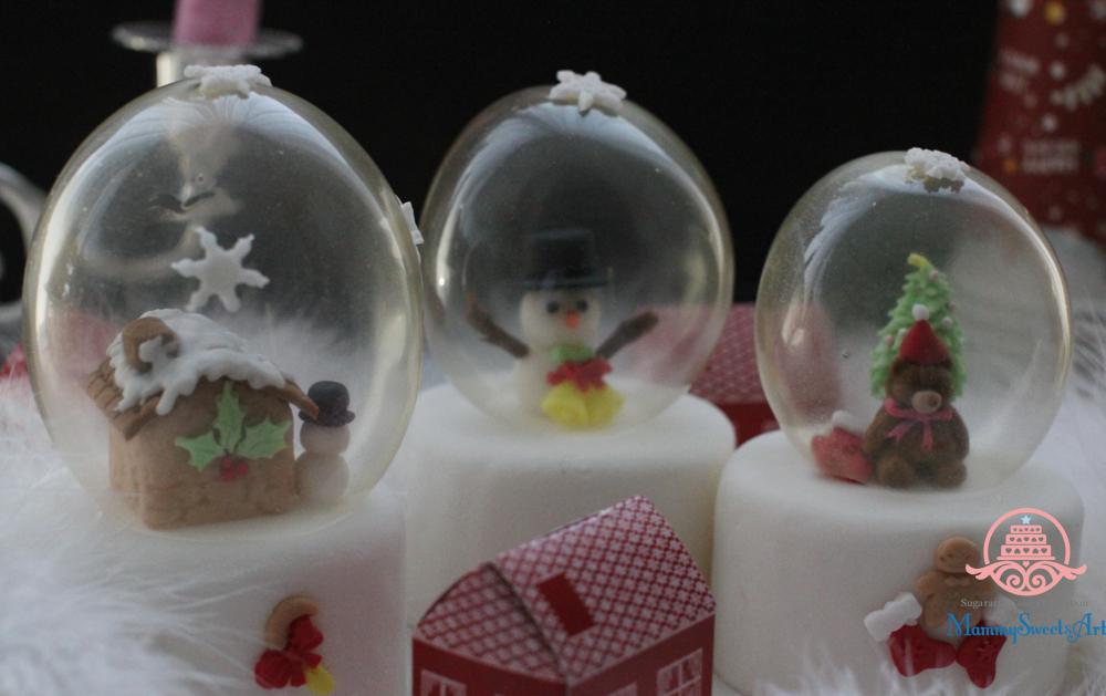 ゼラチンバブルのスノードームで飾る本格シュガーケーキレッスン