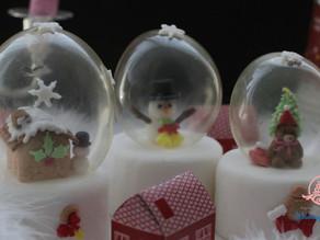 ゼラチンバブルのスノードームで飾る本格シュガーケーキのワンデーレッスン