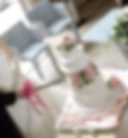 シュガークラフトウェディングケーキ,オーダーメードウェディングケーキ,花嫁様手作り,ピンク,リボン,芍薬
