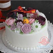 シュガークラフト,バタークリームケーキ,お花絞りのケーキ,クリスマスケーキ,シュガーケーキ