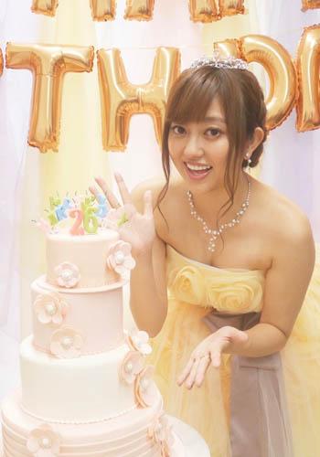 菊池亜美さんバースデーイケーキ