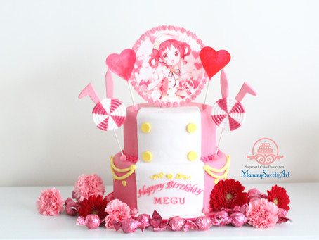 人気アニメ「ご注文はうさぎですか?」お誕生日ケーキ制作