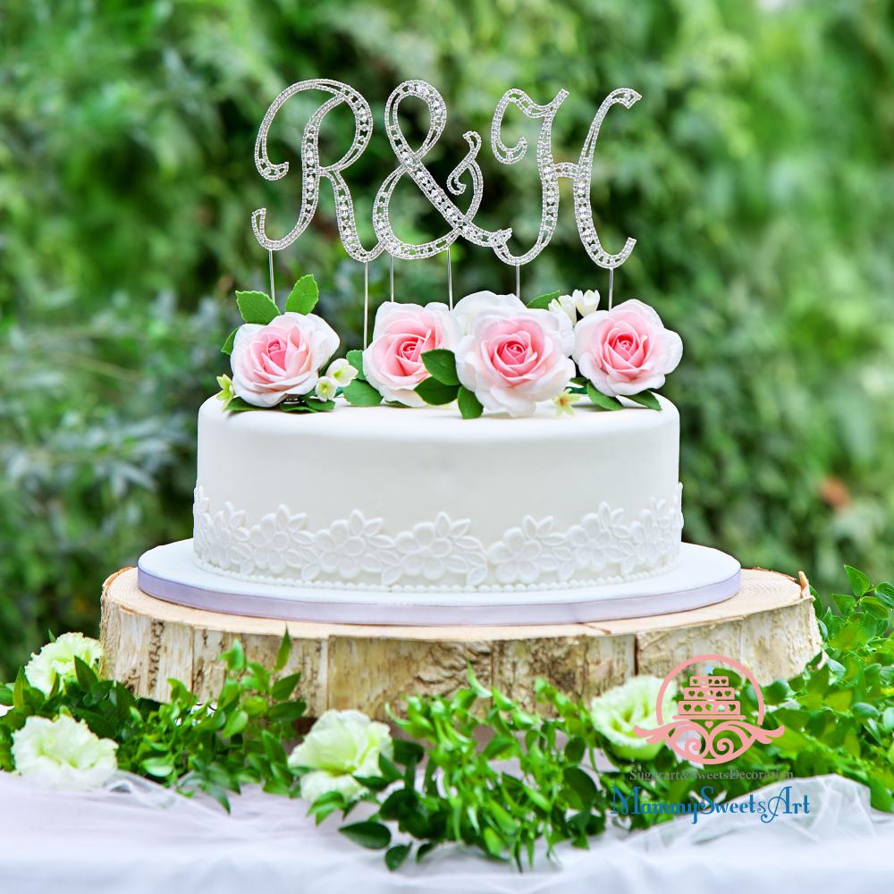 ケーキトッパー撮影用、シュガークラフトケーキ、ウェディングケーキ
