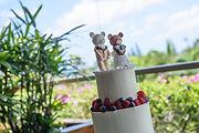 シュガークラフトウェディングケーキ,オーダーメードウェディングケーキ,花嫁様手作り,ケーキトップ