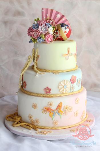 中国イベント用和風ケーキ