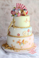 シュガーケーキ,シュガークラフト,ウェディングケーキ,オーダーケーキ,オーダーメードウェディングケーキ,「和」のウェディングケーキ,結婚準備サイト「marry」掲載