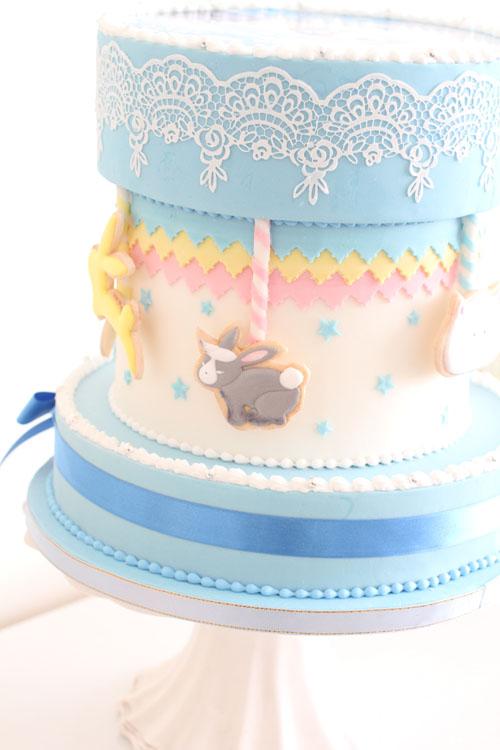 人気TVアニメ「ご注文はうさぎですか?」イベント用シュガークラフトケーキ