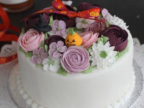 ハロウィーンのケーキ