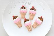 シュガークラフト、アイシングクッキー,アイスクリーム