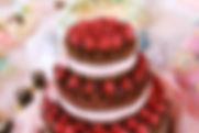 シュガークラフト,シュガーケーキ,オーダーメードウェディングケーキ,イチゴ,いちご,チョコレートケーキ