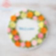 シュガークラフト,オーダーケーキ,バタークリームケーキ,お花絞りのケーキ,クリスマスケーキ
