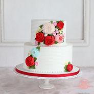 シュガークラフト,バタークリームケーキ,お花絞りのケーキ,シュガーケーキ,オーダーケーキ