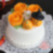 シュガークラフト,バタークリームケーキ,お花絞りのケーキ,シュガーケーキ