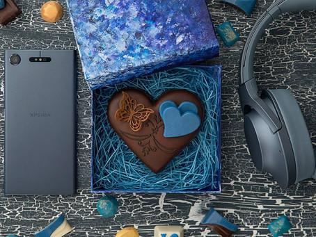 ソニー「LOVE MUSIC」バレンタインビジュアル用チョコレート、スタイリンク゛協力