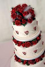 シュガーケーキ,シュガークラフト,ウェディングケーキ,オーダーメードウェディングケーキ,薔薇,横浜そごう
