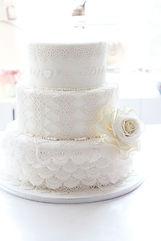 シュガークラフトウェディングケーキ,オーダーメードウェディングケーキ,花嫁様手作り,オーダーケーキ