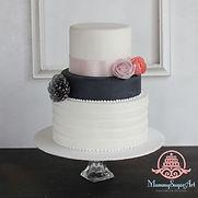 オーダーメードウェディングケーキ,シュガークラフトウェディングケーキ、wafer paper