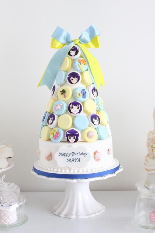 アニメ「ご注文はうさぎですか?」のMAYAちゃんのお誕生日ケーキを制作さ