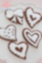 シュガークラフト、アイシングクッキー,シュガーケーキ,ハート,バレンタイン