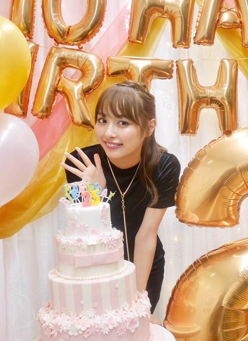 内田理央さんバースデーイベント用シュガーケーキ