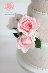シュガークラフト,オーダーメードウェディングケーキ,シュガーケーキ,薔薇,オーダー,シュガーアート