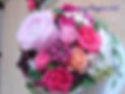 オーダーケーキ,シュガークラフト,ウェディングケーキ,オーダーメードウェディングケーキ,花嫁様手作り,ピンク,リボン,ばら,キャンドル