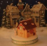 シュガークラフト、クリスマスお菓子の家,オーダーメードケーキ、シュガーケーキ