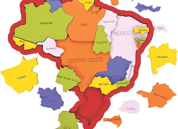 Quebra-cabeça mapa Brasil