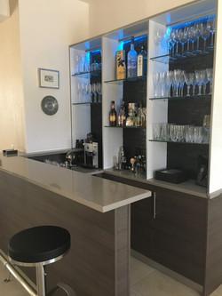 Gray Gloss dry bar with Led lights