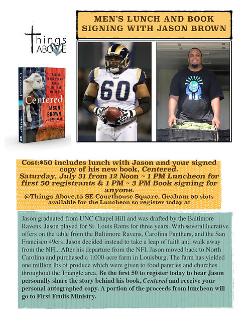 Men's Lunch and Book Signing with Jason Brown
